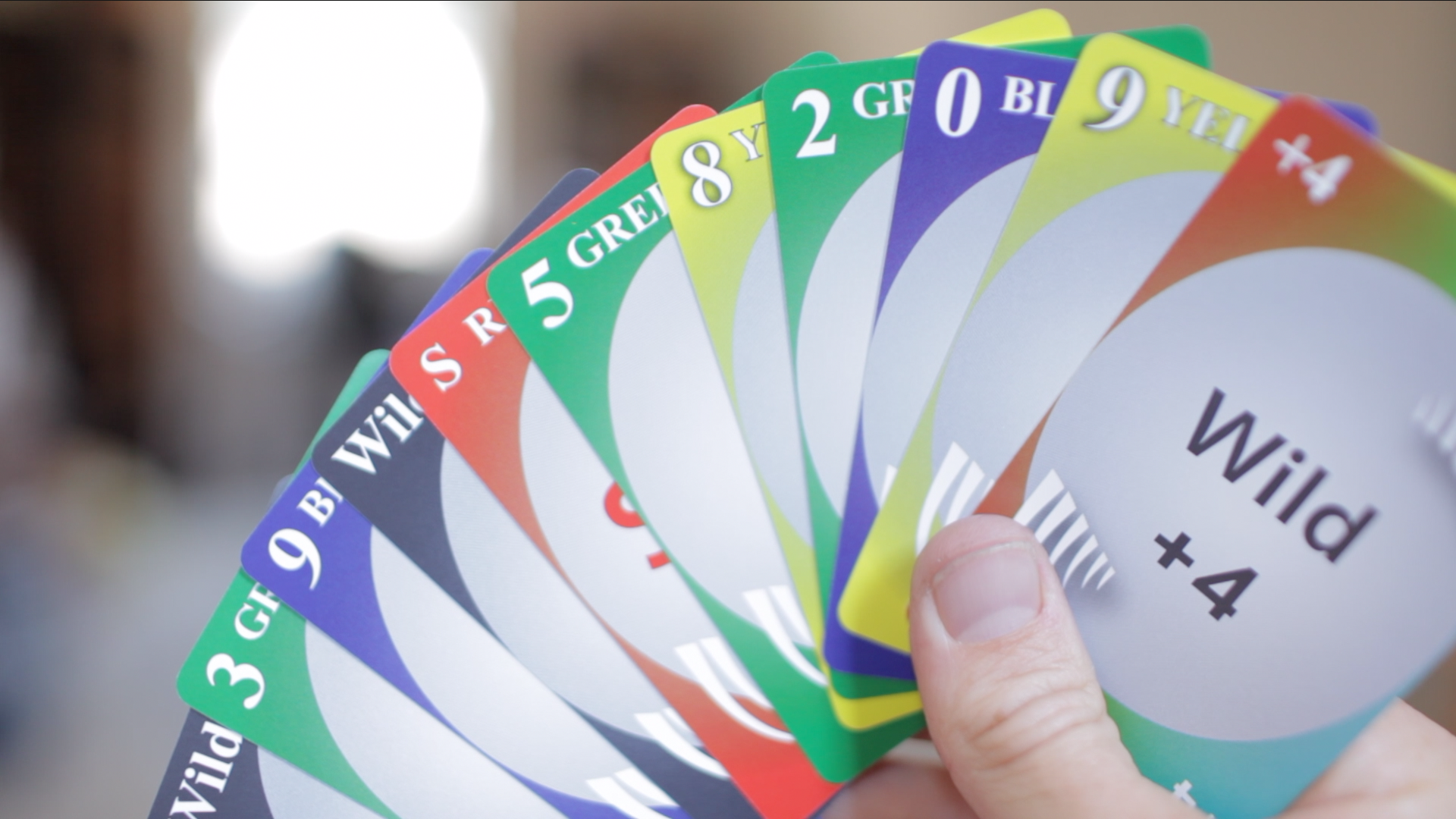 fully plastic uno cards